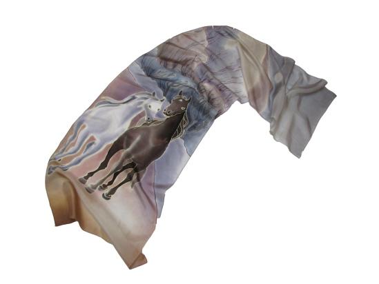 Batik_Skarf_viz_horse